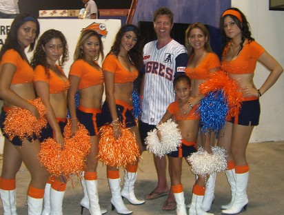 Calman and the cheerleaders