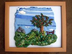 Framed Cherry Tree