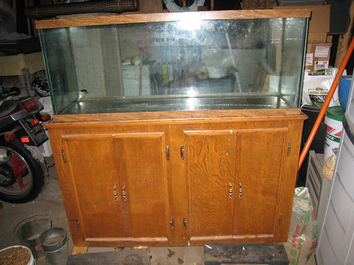 Complete 55 Gallon Aquarium   Stand for sale (SOLD on Craigslist) by
