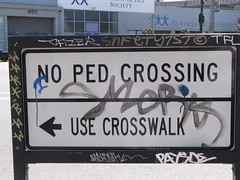 Ped Crossing Sign