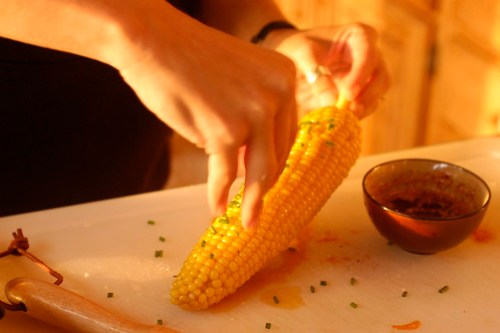 the island - fresh corn