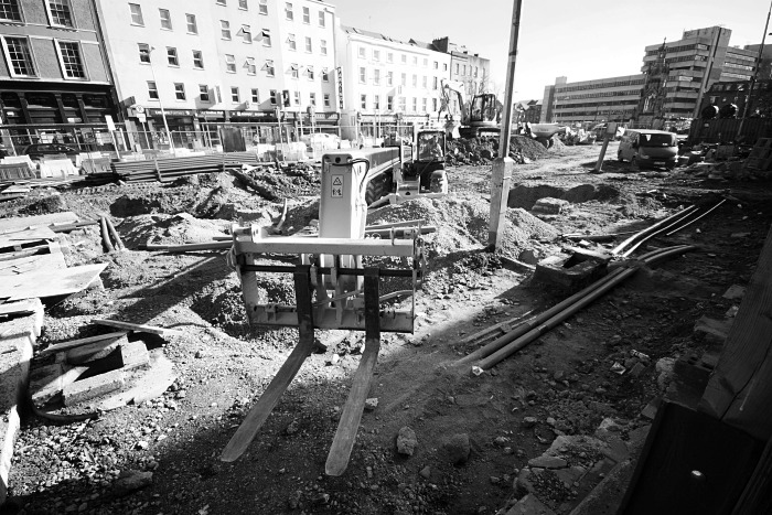 Construction on the Grand Parade