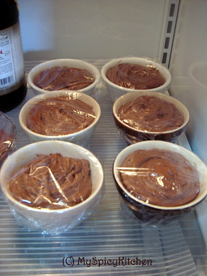 Chilling chocolate mousse