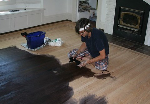 ebony stain on oak floors (read this first: i.e. our floor nightmare)