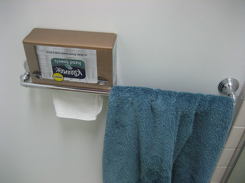 Kleenex Hand Towels In Use