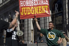 Anti-gay Christian fundamentalists protesting ...