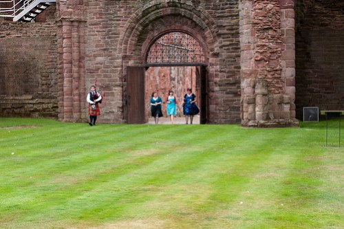 Our grand entrance through the gates of Arbroath Abbey