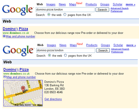 AdWords-Banner Map