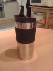 Ook nog even mijn nieuwe 'Travel Mug' van Bodum showen...