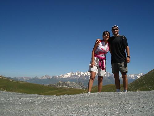 Hiking above Les Arcs