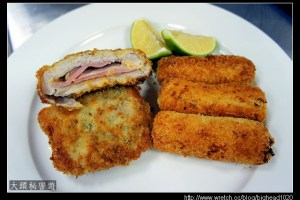 [西餐]主菜類 藍帶豬排附炸圓柱形馬鈴薯泥