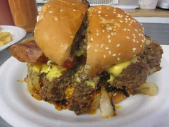 ann&#39;s snack bar - holy jeezy that&#39;s one big ghetto burger by foodiebuddha