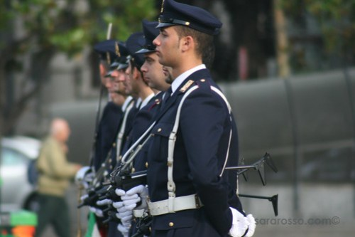 Police in Italy - at Attention!