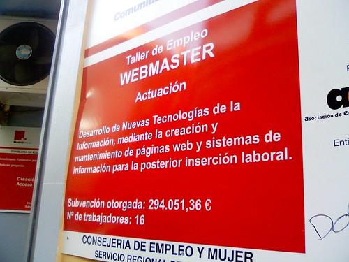 "Taller de empleo de ""Webmaster"""