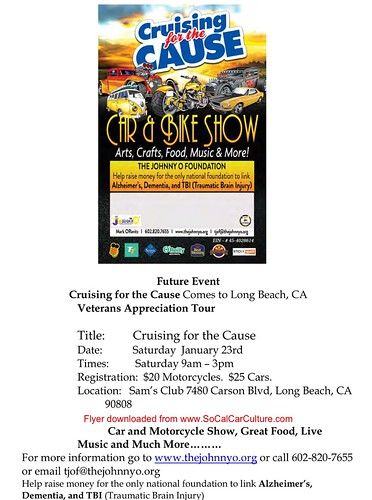 "LONG BEACH CA USA ""Cruising for the Cause Car and Bike Show"" January 23 Saturday - 9am to 3pm - Arts, Crafts, Food, Music, and More - credit: www.SoCalCarCulture.com • <a style=""font-size:0.8em;"" href=""http://www.flickr.com/photos/134158884@N03/24520053315/"" target=""_blank"">View on Flickr</a>"