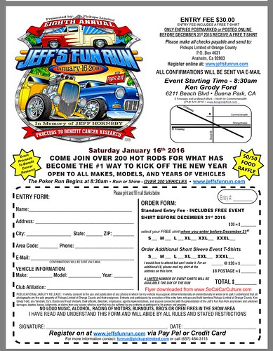 """BUENA PARK CA USA - """"8th Annual Jeffs Fun Poker Run""""  Saturday  - January 16   -  8:30am - over 200 Classics - All Classics, Hot Rods, Kustoms  Welcome  - credit: www.SoCalCarCulture.com • <a style=""""font-size:0.8em;"""" href=""""http://www.flickr.com/photos/134158884@N03/24315946991/"""" target=""""_blank"""">View on Flickr</a>"""