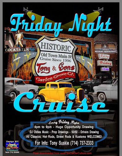 """GARDEN GROVE CA USA - """"Friday Night Historical Cruise"""" Every Friday - January 15 -  4pm to 9pm - All Classics, Hot Rods, Kustoms  Welcome - DJ Oldies Music, Drawings , 50/50 - credit: www.SoCalCarCulture.com • <a style=""""font-size:0.8em;"""" href=""""http://www.flickr.com/photos/134158884@N03/24289749092/"""" target=""""_blank"""">View on Flickr</a>"""