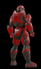 "Halo-5-Guardians-Mark-V-Alpha-Red-Back • <a style=""font-size:0.8em;"" href=""http://www.flickr.com/photos/118297526@N06/24579601575/"" target=""_blank"">View on Flickr</a>"