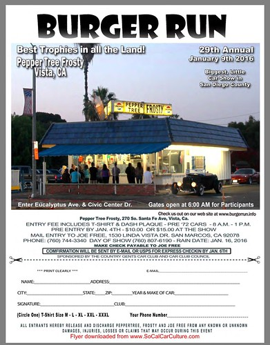 """VISTA CA USA - """"Burger Run 29th Annual """"  - January 9 Saturday  - 8am to 1pm -   Car entry at gate $15 - Free and open to all - credit : www.SoCalCarCulture.com • <a style=""""font-size:0.8em;"""" href=""""http://www.flickr.com/photos/134158884@N03/23639853764/"""" target=""""_blank"""">View on Flickr</a>"""