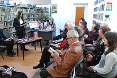 Ziua Cărţii la Secţia împrumut carte pentru adulţi, Biblioteca Roman - recital poezie