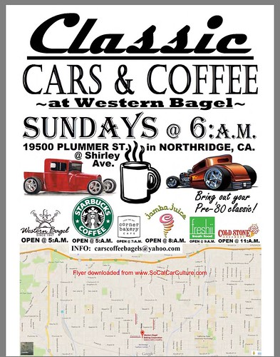 """NORTHRIDGE CA USA - """"Classic Cars and Coffee At Western Bagel"""" Every Sunday  - January 17 - 6am  - All Pre 80's Classics, Hot Rods, Kustoms  Welcome - Casual Car Meet - credit: www.SoCalCarCulture.com • <a style=""""font-size:0.8em;"""" href=""""http://www.flickr.com/photos/134158884@N03/24315804811/"""" target=""""_blank"""">View on Flickr</a>"""