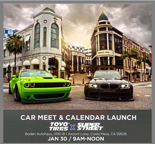 "COSTA MESA CA USA - ""Car Meet and Calendar Launch""  January 30 - Saturday 9 AM to noon - by Toyo Tires - Super Street - credit: www.SoCalCarCulture.com • <a style=""font-size:0.8em;"" href=""http://www.flickr.com/photos/134158884@N03/24396787290/"" target=""_blank"">View on Flickr</a>"