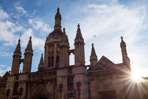 Evening sun at Kings College