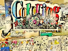 Coloring the Adult Coloring Book Bin at Barnes and Noble