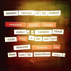 Summer Sausage of the Undead a #tfotd #vampire #poem for #napowrimo