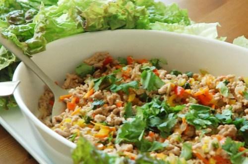 Thai Pork Lettuce Bundles