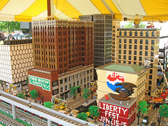 Lego city display at LibertyFest 2007 - Canton, Michigan