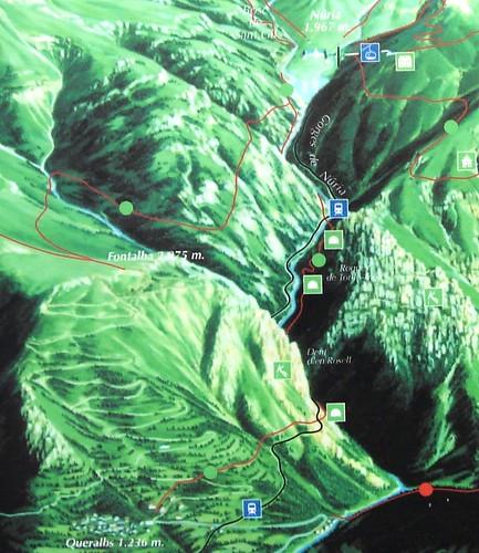 Mapa Vall de Núria