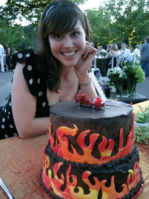 Deirdre & the Groom's Cake