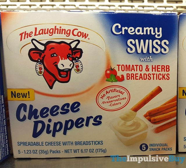 The Laughing Cow Creamy Swiss with Tomato & Herb Breadsticks Cheese Dippers