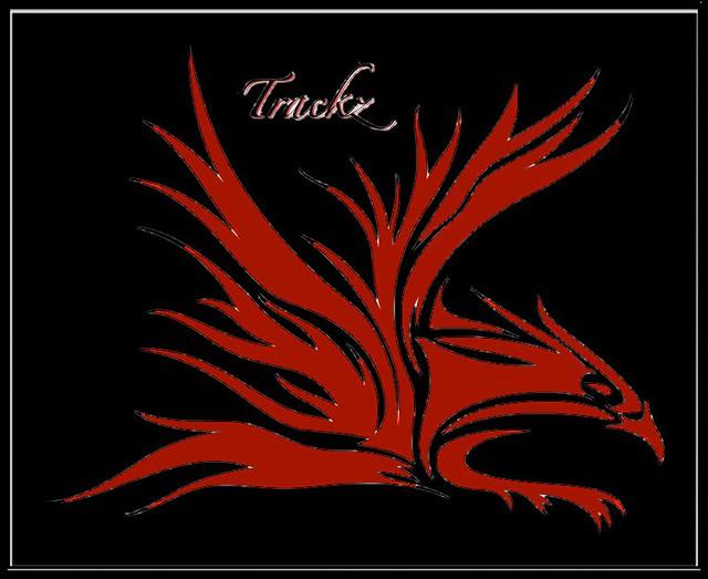 Trackz Eagle Logo Two Color Red1