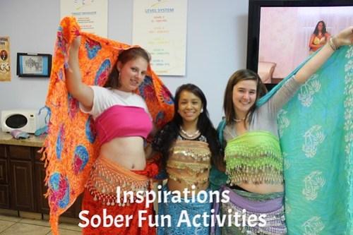 Teens pose during sober fun