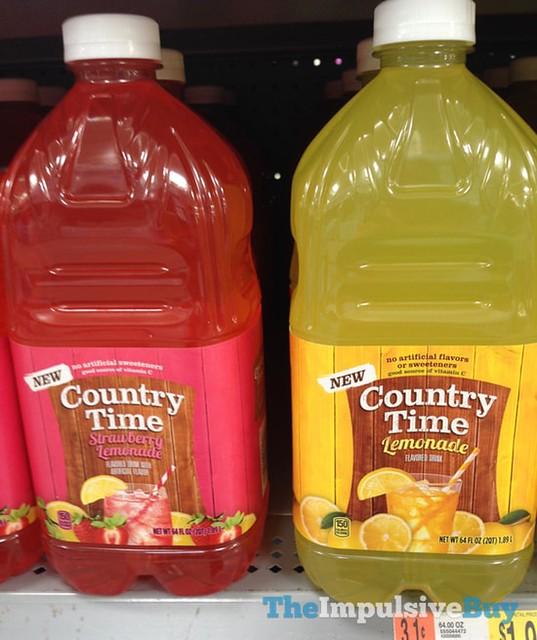 Country Time Strawberry Lemonade and Lemonade