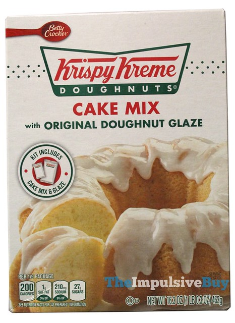 Betty Crocker Krispy Kreme Doughnuts Cake Mix with Original Doughnut Glaze