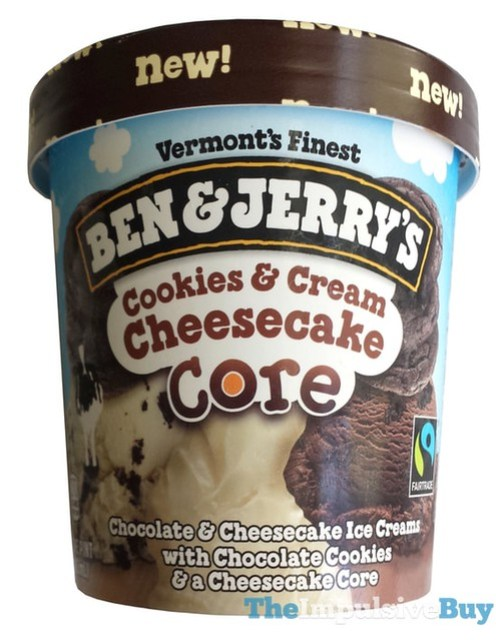 Ben & Jerry's Cookies & Cream Cheesecake Core Ice Cream