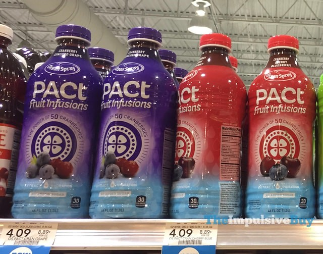 Ocean Spray Pact Fruit Infusions (Cranberry Concord Grape and Cranberry Cherry Blueberry)