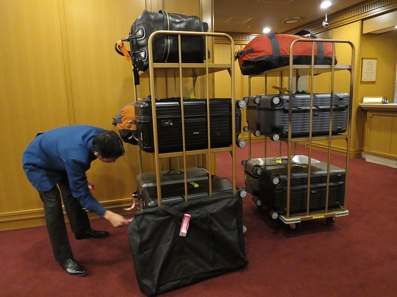 Luggage at Imperial Hotel
