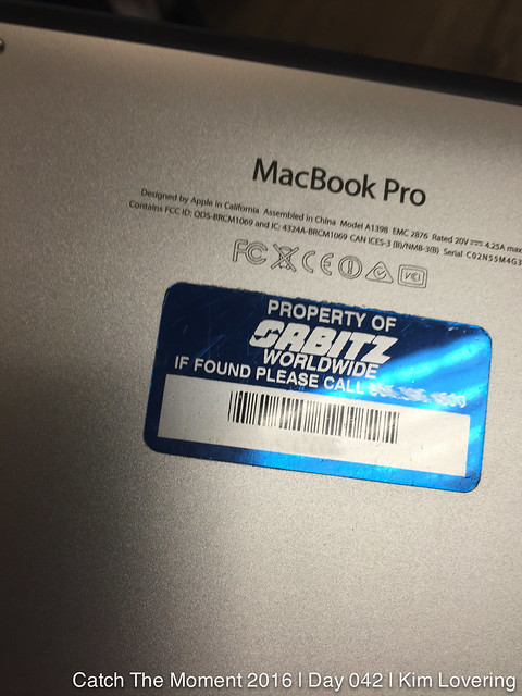 Back of MacBook Pro