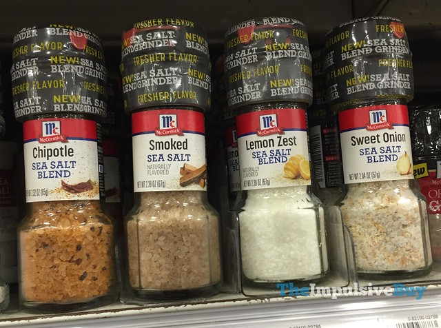 McCormick Sea Salt Blend Grinders (Chipotle, Lemon Zest, and Sweet Onion)