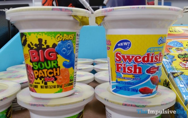 Swedish Fish and Big Sour Patch Kids Go-Paks!