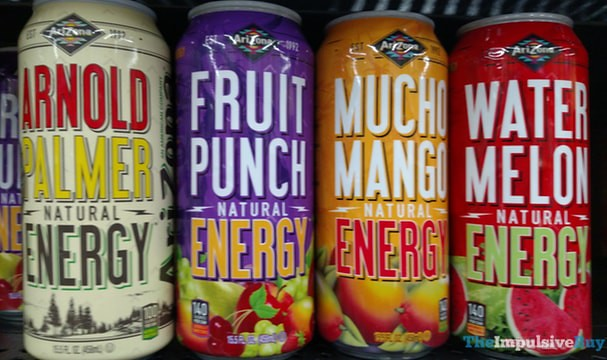Arizona Natural Energy (Arnold Palmer, Fruit Punch, Mucho Mango, and Watermelon)
