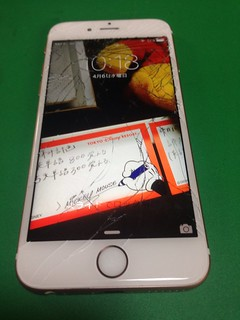 75_iPhone6Sのフロントパネルガラス割れ