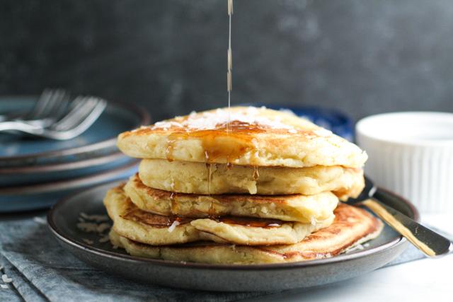 Coconut Pancakes: recipe on www.inthiskitchen.com