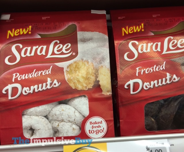 Sara Lee Powdered Donuts and Frosted Donuts