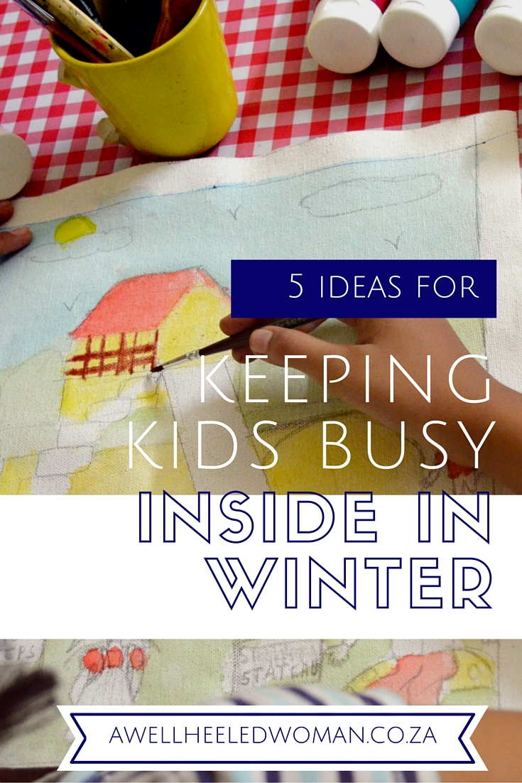 Fun with the kids on a rainy or cold day // activities and ideas