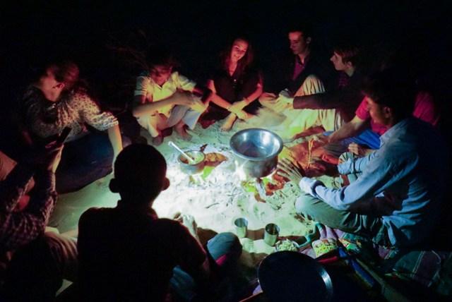 Abendessen in der Wüste